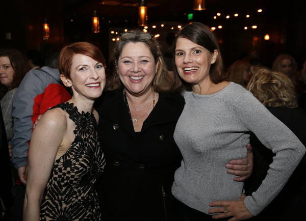 From left, cast member Cora Vander Broek and actors Camryn Manheim and Suzanne Cryer