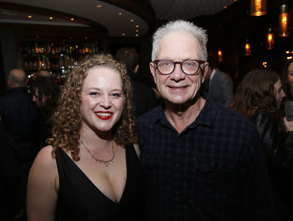 From left, cast member Caroline Neff and actor Jeff Perry