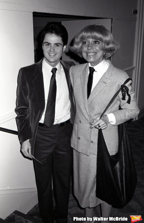 Donny Osmond and Carol Channing attend a Gala on March 01, 1982 at the Hilton Hotel in New York City.