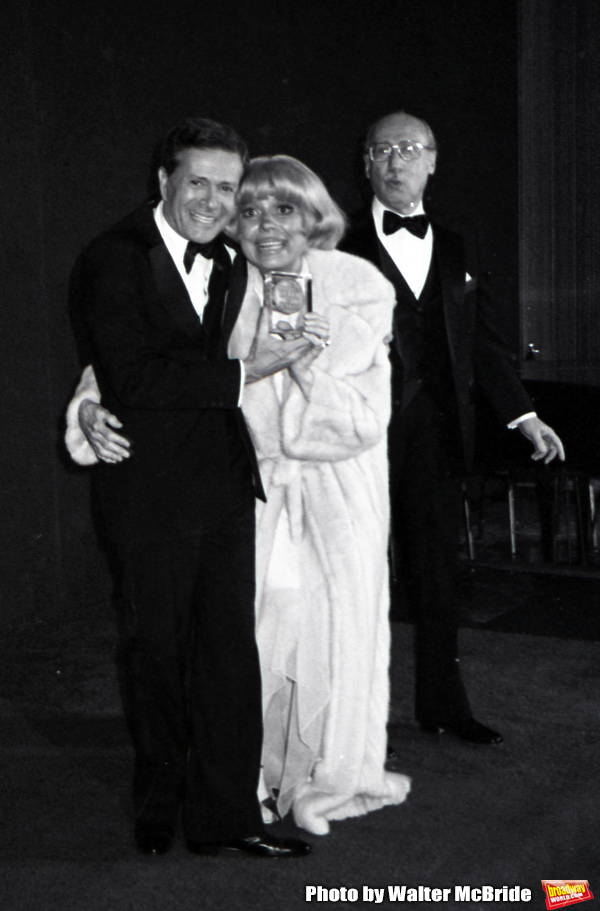 Jerry Herman, Carol Channing and Sammy Cahn attend the Songwriters Hall Of Fame held on March 28, 1982 at the Hilton Hotel in New York City.