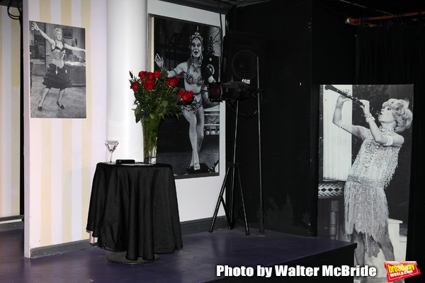 """Stage set for Richard Skipper as """"Carol Channing"""" - performing at St. Luke's Theatre in New York City"""