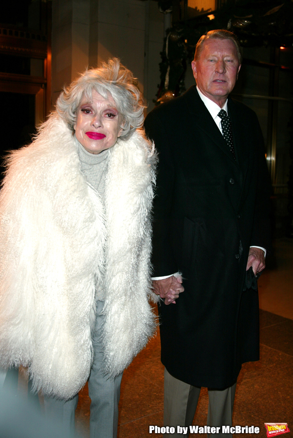 CAROL CHANNING Leaving the Essex House Hotel for thepremiere of NICHOLAS NICKLEBY at the Beekman Theatre, New York City. December 17, 2002