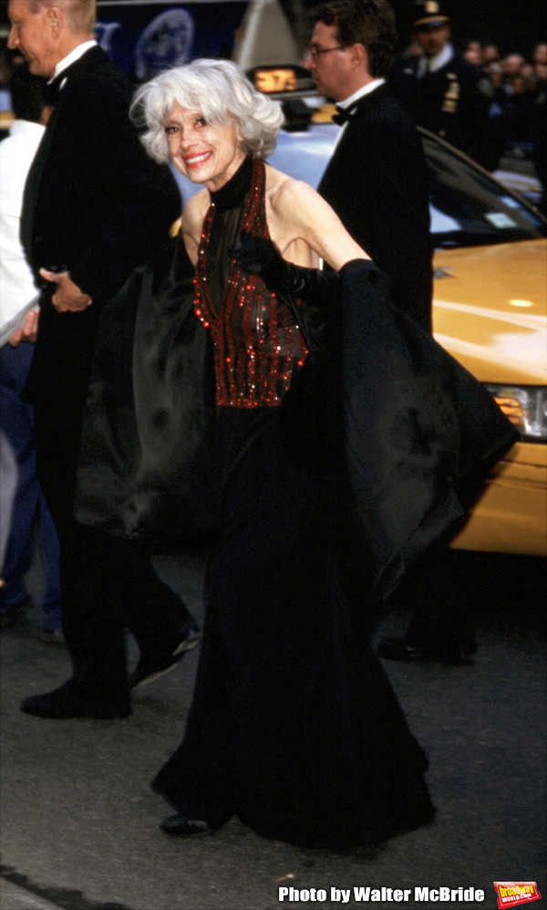 Carol Channing wearing Bob Mackie attending the wedding of Liza Minnelli and David Gest at Marble Collegiate Church in New York City. 3/16/02