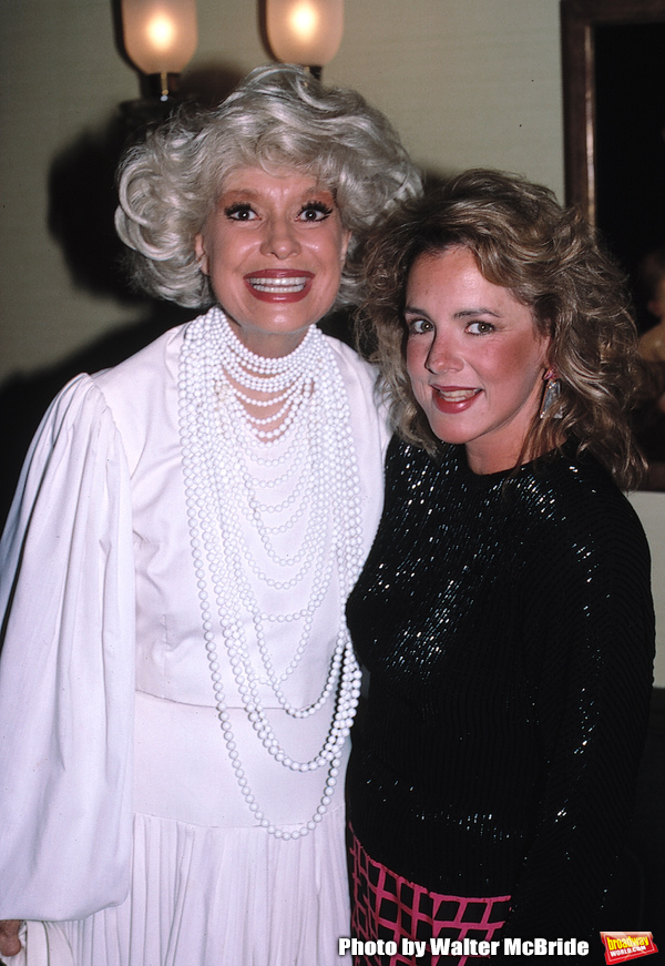 Carol Channing and Stockard Channing photographed on June 21, 1988 in New York City.