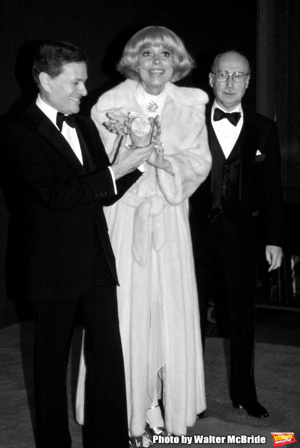 Jerry Herman, Carol Channing and Sammy Cahn attend the Songwriters Hall Of Fame in Ne Photo