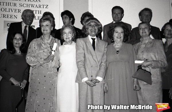 Adolph Green, Betty Comden, Al Pacino, Jerry Herman, Burgess Meredith, Susan Strassberg, Angela lansbury, Lillian Gish, Carol Channing, Ethel Merman, Princess Grace Kelly and Ellen Burstyn at the Theatre Hall Of Fame Awards held on March 28, 1982 at the U