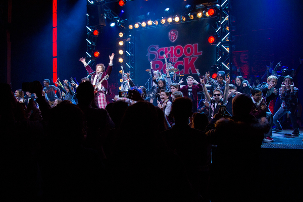 Photo Coverage: The Cast of SCHOOL OF ROCK Takes its Closing Night Curtain Call