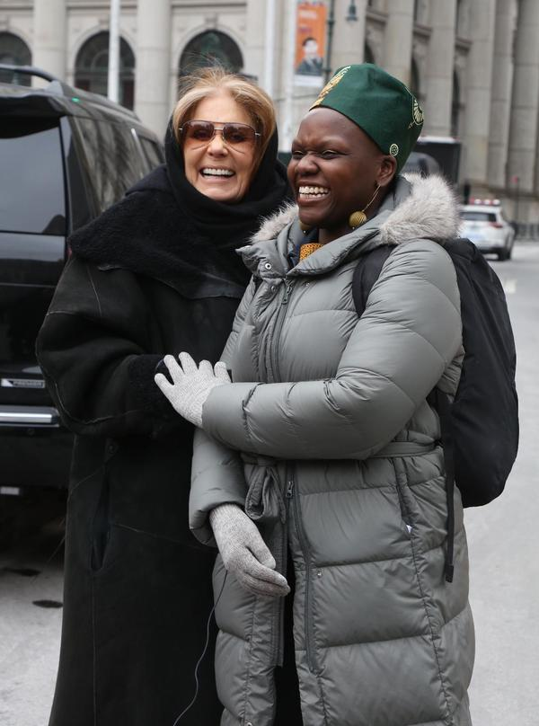 Gloria Steinem and Agunda Okeyo
