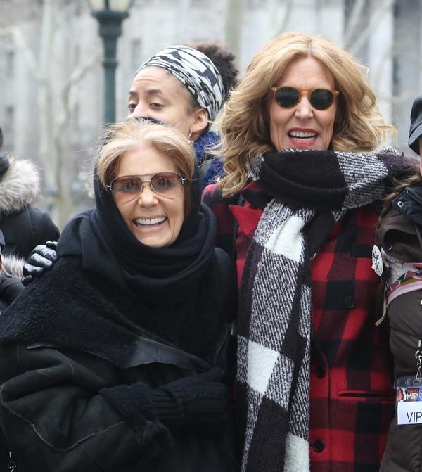 Gloria Steinem and Christine Lahti