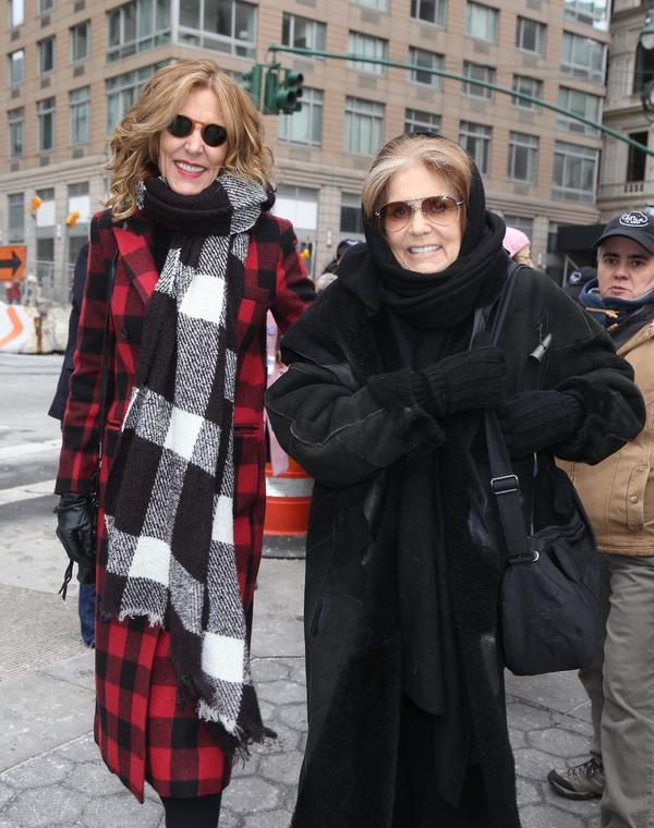 Christine Lahti and Gloria Steinem