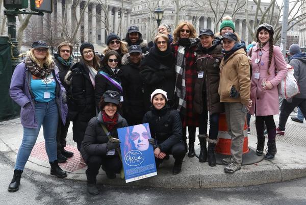 Gloria Steinem, Christine Lahti with the Gloria cast