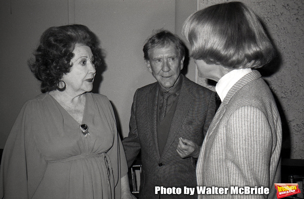 Ethel Merman, Burgess Meredith and Carol Channing  attend the Theatre Hall Of Fame Aw Photo