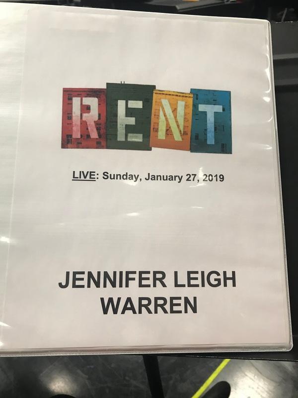 Jordan Fisher as Mark Cohen and Jennifer Leigh Warren as Mrs. Cohen