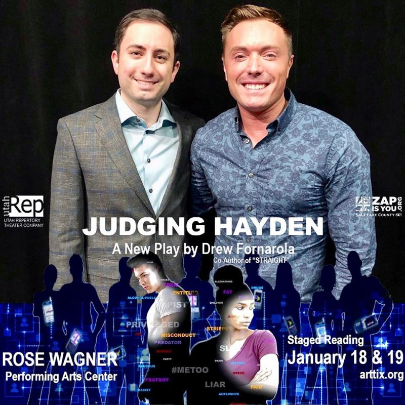 BWW Feature: Award-Winning New York City Playwright of STRAIGHT Joins Utah Rep for Developmental Staged Reading of His Followup, JUDGING HAYDEN