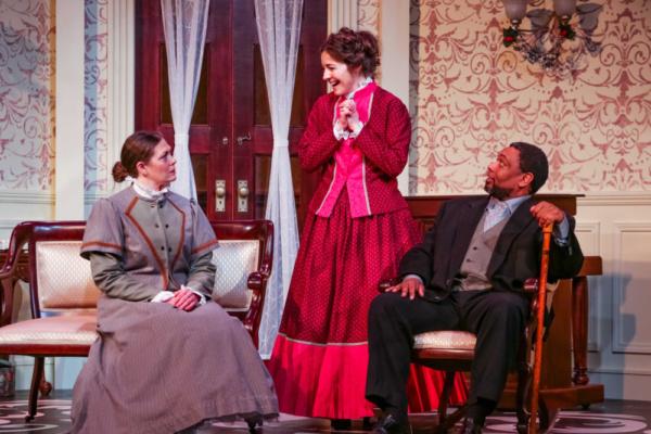 Christine (Kristen Moriarty), Nora (Annie Katica Green) & Dr. Rank (Mark Peterson)