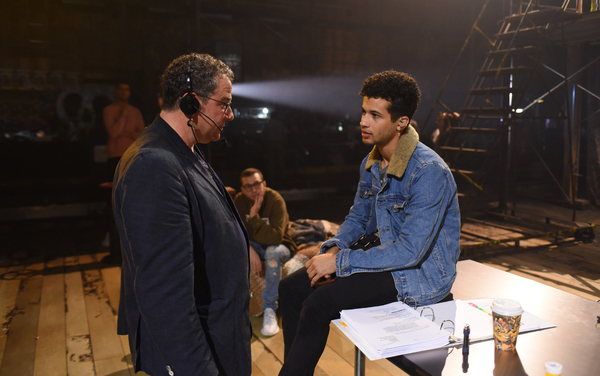 Director Michael Greif and Jordan Fisher