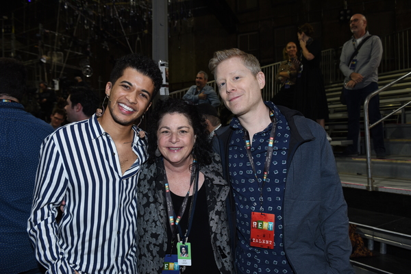 Jordan Fisher, executive producer Julie Larson and Anthony Rapp