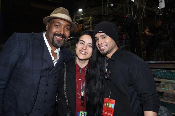 Jesse L. Martin, choreographer Sonya Tayeh and Wilson Jermaine Heredia
