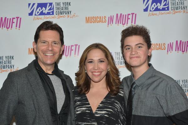 Peter Flynn, Andrea Burns and Hudson Flynn