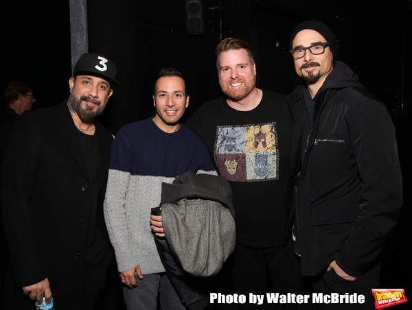 AJ McLean, Howie Dorough and Kevin Richardson from the Backstreet Boys backstage with Photo