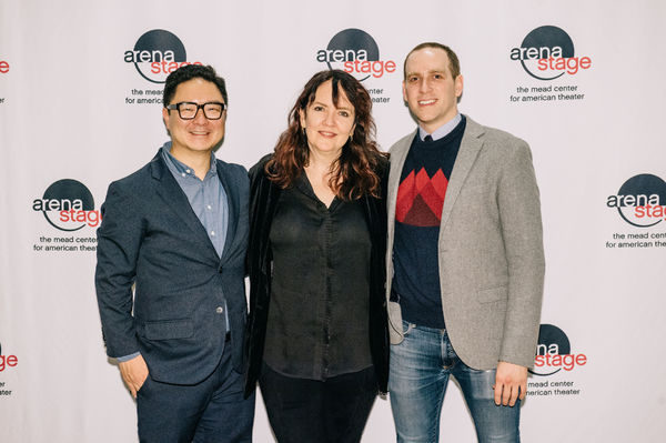 Playwright Kenneth Lin, Director Jackson Gay and Max Woertendyke (Mikhail Khodorkovsky)