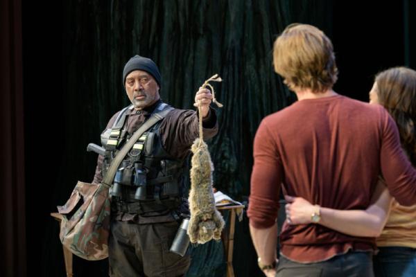 Hassan El-Amin as Bernard, Denver Milord as Nick and Sara Bues as Sam. Photo: Evan Kr Photo