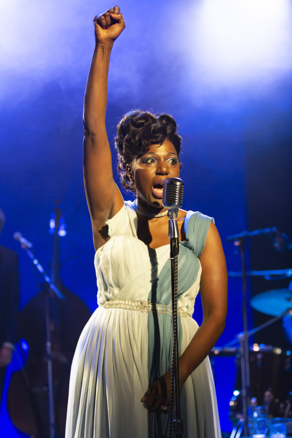 Laiona Michelle, writer and star of Little Girl Blue - The Nina Simone Musical at George Street Playhouse, January 29 thru February 24.   Photo by T. Charles Erickson.