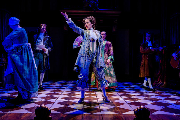 Nell Gwynn (Alison Luff) becomes a stage sensation in England.