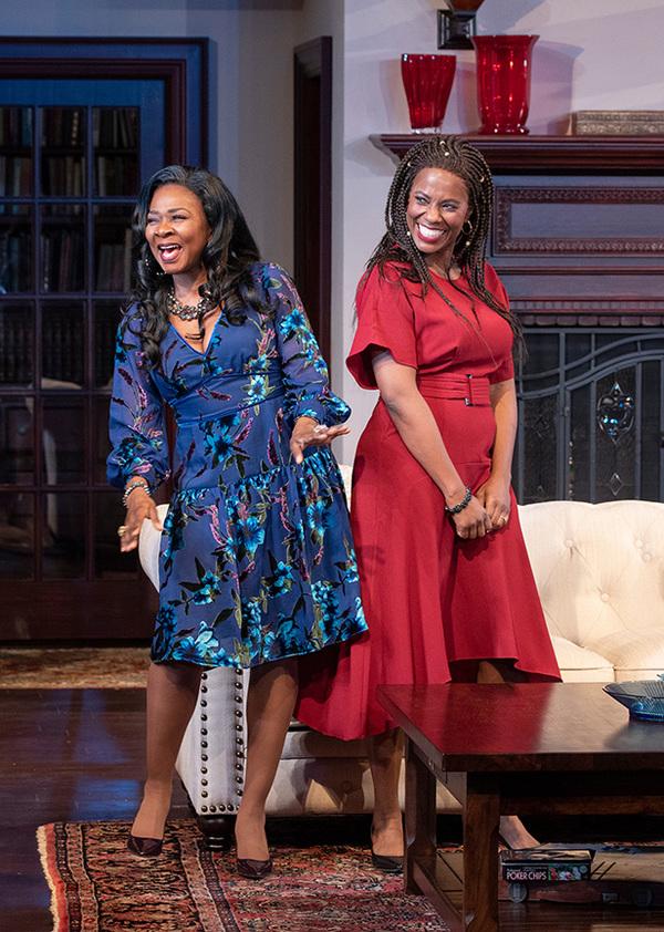 (from left) Ramona Keller as Margaret Munyewa and Zakiya Young as Tendikayi in Familiar