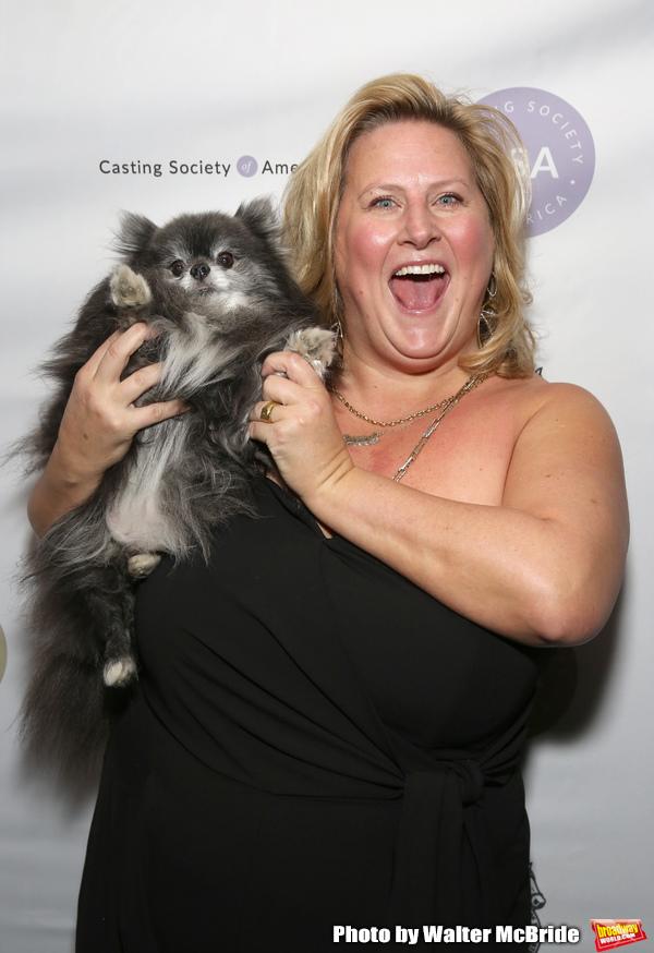 Bridget Everett with her Pomeranian, Poppy