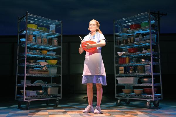 Christine Dwyer as Jenna in WAITRESS.  Photo credit: Tim Trumble