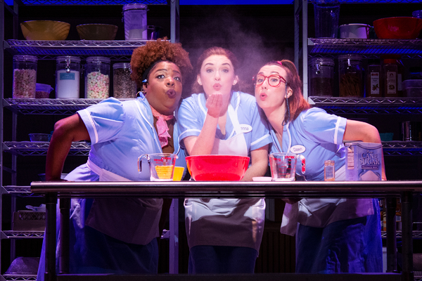 Maiesha McQueen, Chrstine Dwyer, and Jessie Shelton in the tour of WAITRESS.  Photo c Photo