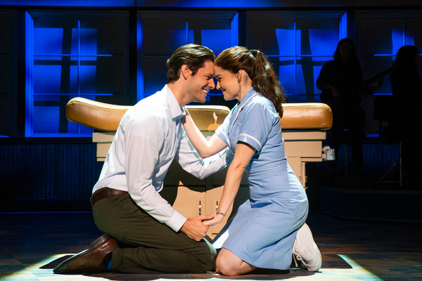 Steven Good and Christien Dwyer in the tour of WAITRESS.  Photo credit: Philicia Ende Photo