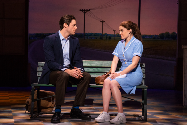 Steven Good and Christien Dwyer in the tour of WAITRESS.  Photo credit: Philicia Endelmand