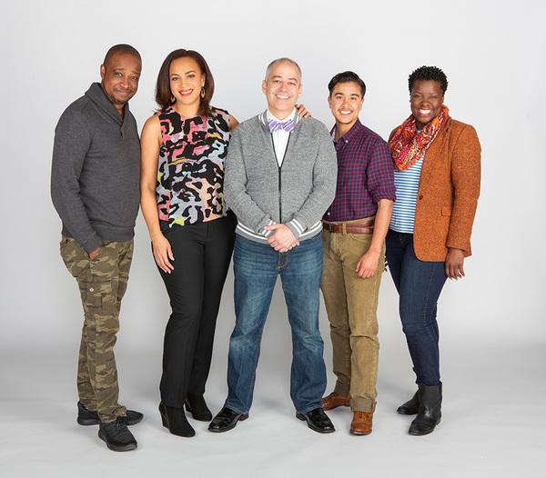 Keith Powell, Opal Alladin, director James Vásquez, Avi Roque, and Dorcas Sowunmi