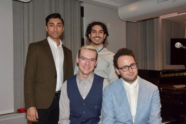 Charlie Sohne 2019 Kleben Prize Winner Librettist with Nikhil Saboo, Nawaf Noorudin and Tim Rosser