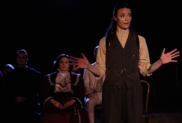 Lana K. Hoover (A Woman Among the Dead), Gigi Cervantes (Mrs. Gibbs), Kelsey Milbourn (Stage Manager)