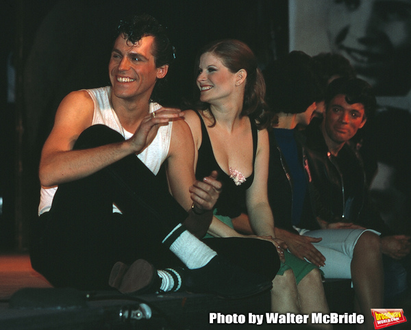 Jeff Conaway & Candice Earley on stage December 2, 1979 as Grease passed Fiddler on t Photo