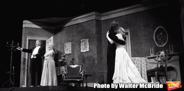 """Dean Dittmann, Margaret Whiting, Terrence Monk and Candice Earley performing in """"Gigi'"""" with the Kenley Players on June 30, 1982 in Dayton Ohio."""