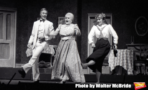 """Terrence Monk, Margaret Whiting and Candice Earley performing in """"Gigi'"""" with the Kenley Players on June 30, 1982 in Dayton Ohio."""