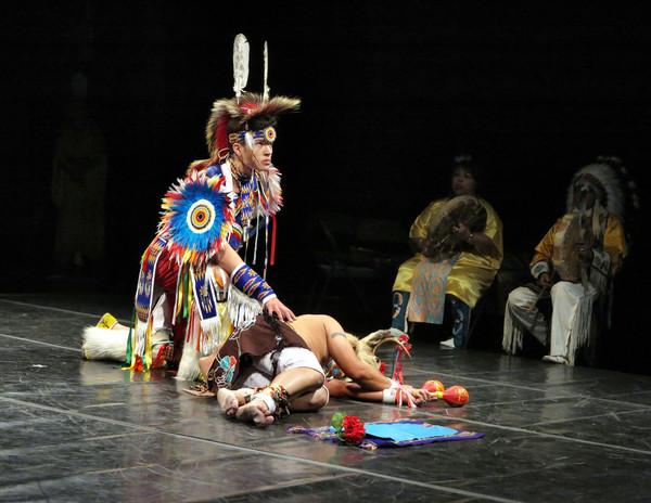 Ciaran Tufford - Maya/Cherokee/Cree/Pawnee, and Carlos Eagle Feather - Maya Pipil.  P Photo