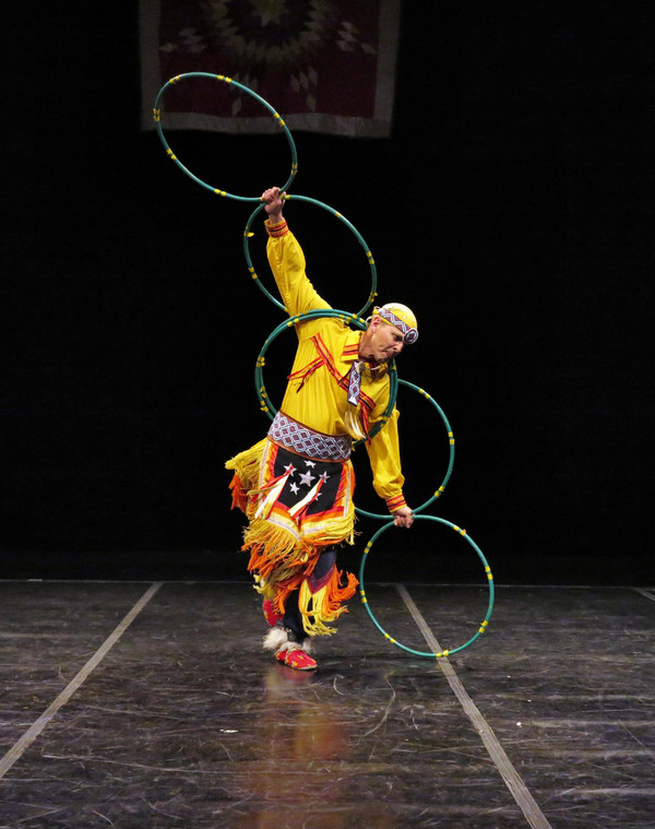 Michael Taylor (Choctaw) in Hoop Dance.  Photo by Jonathan Slaff.