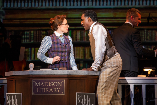 Jessie Mueller, Norm Lewis, and James Moore