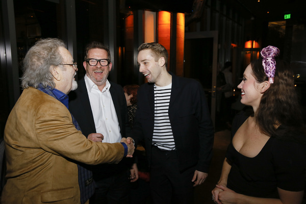 From left, actor Russ Tamblyn, director/choreographer Matthew Bourne and company members Liam Mower and Ashley Shaw