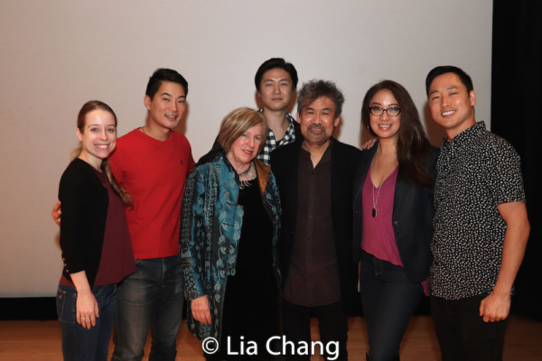 Alyse Alan Louis, Austin Ku, Rachel Cooper, Asia Society Director for Performing Arts and Cultural Programs, Shawn Duan, David Henry Hwang, Jaygee Macapugay and Daniel May