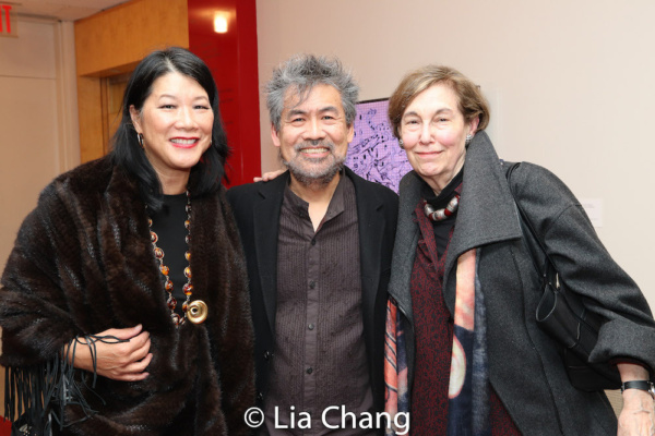 Nadine Wong, American Theatre Wing board member, David Henry Hwang, American Theatre Wing Chair and a guest