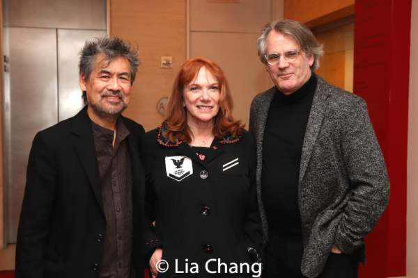 David Henry Hwang, Jacqueline Davis, Executive Director of NY Performing Arts Library and Bartlett Sher