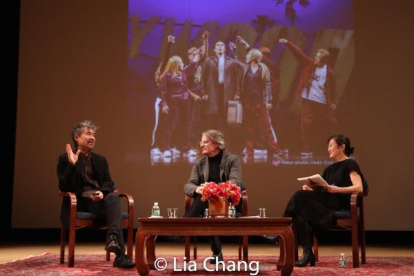 David Henry Hwang, Bartlett Sher and Karen Shimakawa discuss a scene from SOFT POWER