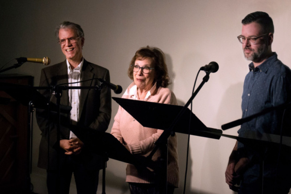 Board President Rob Wyse and Artistic Director Joe Barros announce Sheilah Rae''''s L Photo