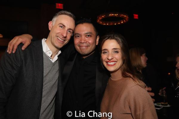Newlyweds Erik Rose and Jose Llana with his KING AND I leading lady Elena Shaddow